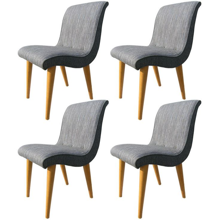 Set Of Four Chairs By Russel Wright For Conant Ball Chairs Dining Rooms And Furniture