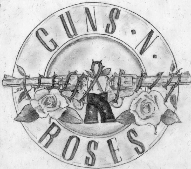 Guns N Roses Guns And Roses Roses Drawing Guns N Roses