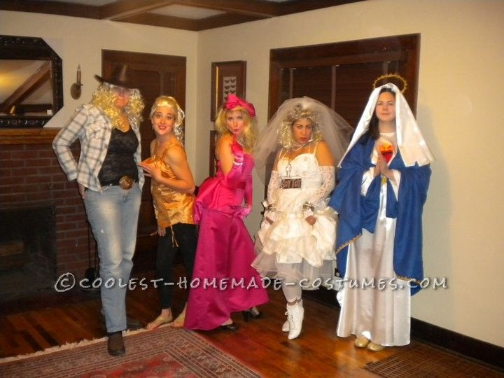 coolest all girls group costume idea the madonnas - Creative Halloween Costume Idea