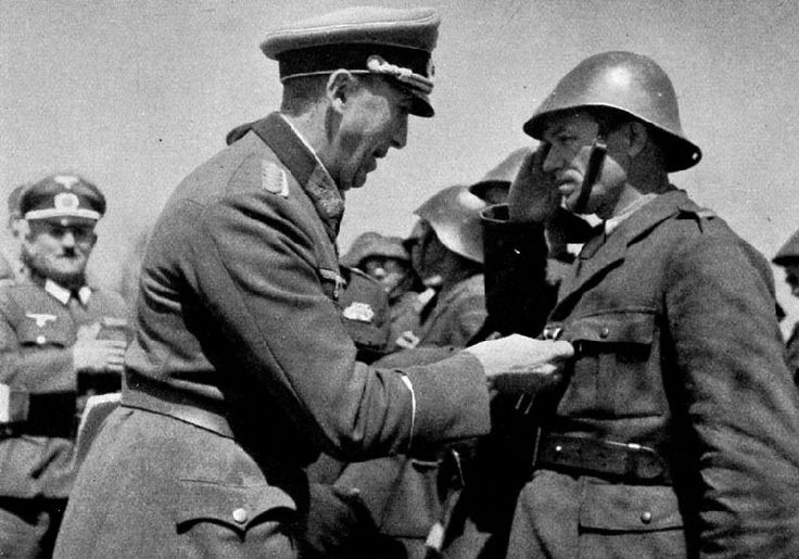 Romanian Fascists being awarded the Iron Cross on the Eastern Front, Sevastapol 1941