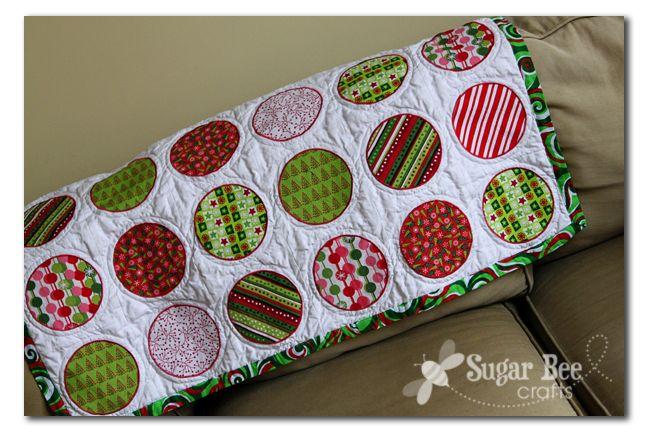 Christmas Circle Quilt - Sugar Bee Crafts
