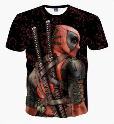 deadpool superhero teenagers boys clothes summer t-shirt 3D