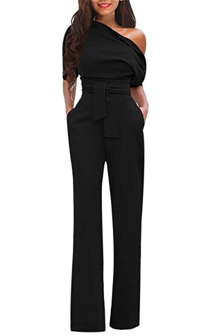 9c01a118d755 Women's Club Jumpsuit Flare Long Pants Party Night Jumpsuit Romper with Belt  Plus Size #Jumpsuits, Rompers & Overalls, #Clothing, #Women, #Clothing, ...
