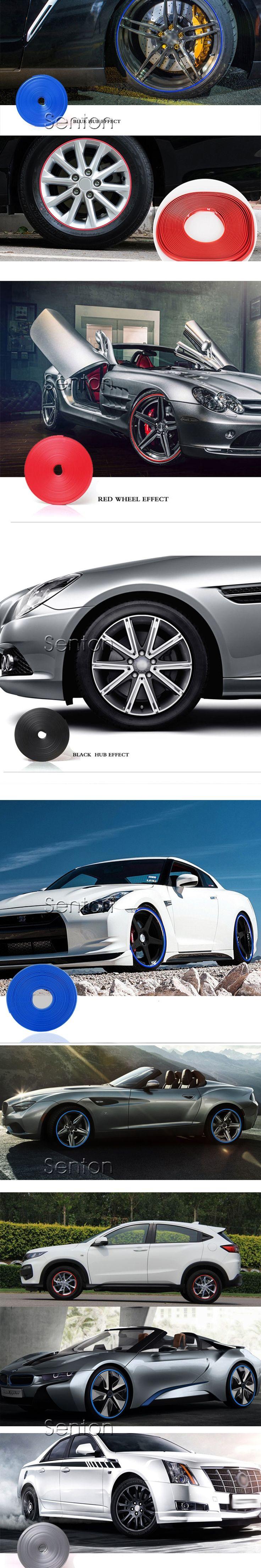 Car Wheel Hub Tire Protector Sticker For Mitsubishi ASX Lancer 10 Outlander Pajero Subaru Forester Impreza XV Citroen C4 C5 C3