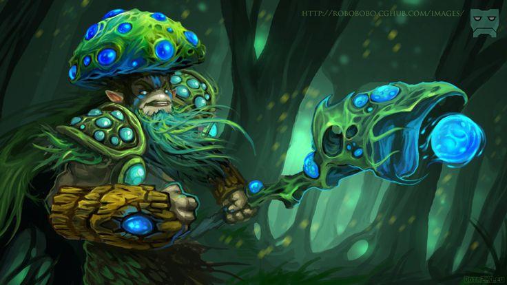 Fine natures prophet fungal lord dota 2 art HD Anime Wallpaper Wallpaper