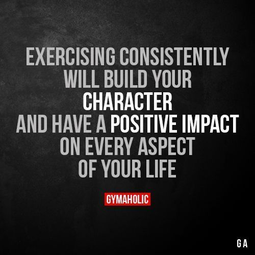 Exercising Consistently Will Build Your Character And have a positive impact on every aspect of your life. More motivation: https://www.gymaholic.co #fitness #gymaholic #workout https://www.musclesaurus.com https://www.musclesaurus.com