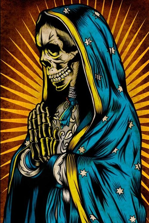 Santa Muerte, Mexican folk-religion kind of thing.