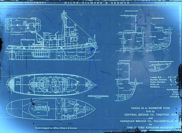 old tugboat blueprint | boats | Pinterest | Boating