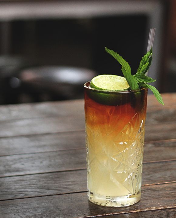 dark and stormy | rum, fresh lime juice + ginger beer cocktail recipe