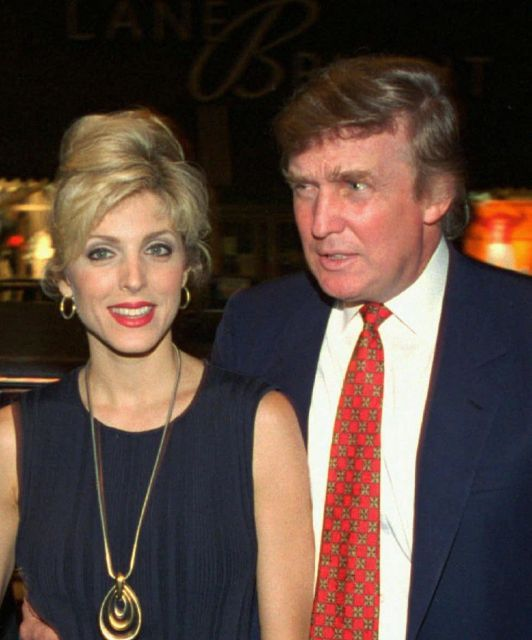 Donald Trump and his wife, Marla Maples, are