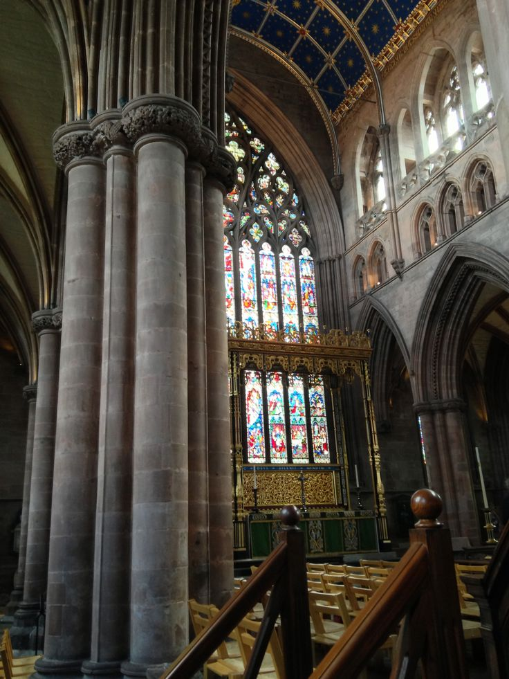Carlisle Cathedral, where Adrian hid, and the stained glassed window that so impressed him.