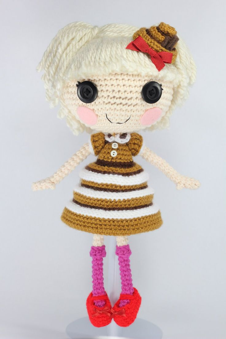 LALALOOPSY Bun Bun Sticky Icing Amigurumi Doll by Npantz22.deviantart.com on @deviantART