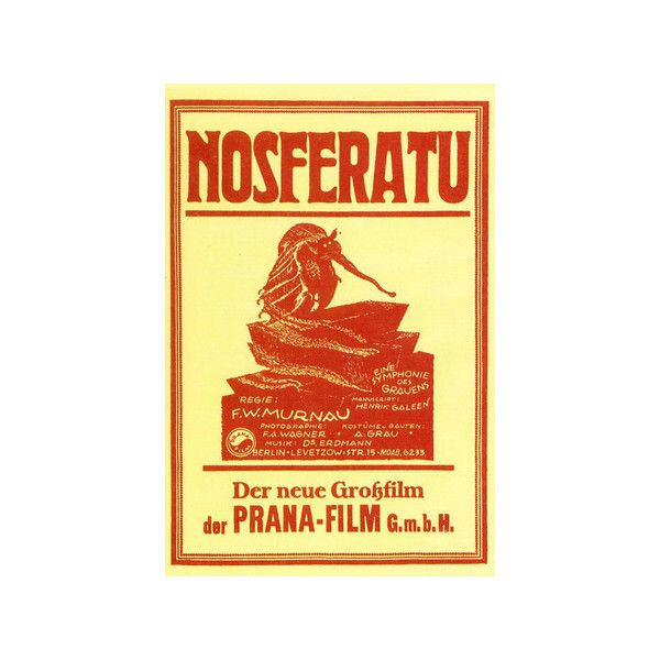 Nosferatu Movie Max Schreck 1922 Poster Print Poster (190 UAH) ❤ liked on Polyvore featuring home, home decor, wall art, movie home decor, movie wall art and movie posters