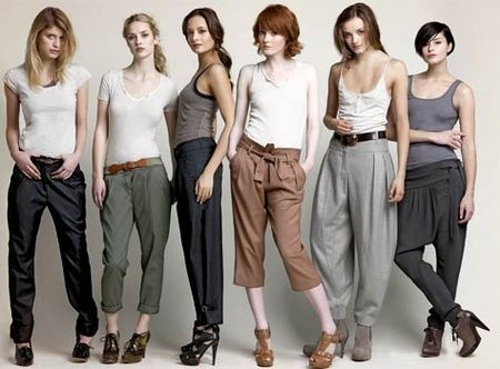 German fashion trends. Not much like America! So happy im already in love with Harem style pants!! So ready to rock Germany :)))