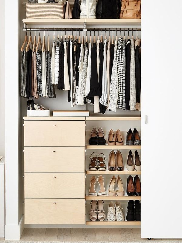 The 7 Best Closet Systems You Can Easily Install Yourself In 2020 Best Closet Systems Closet Layout No Closet Solutions