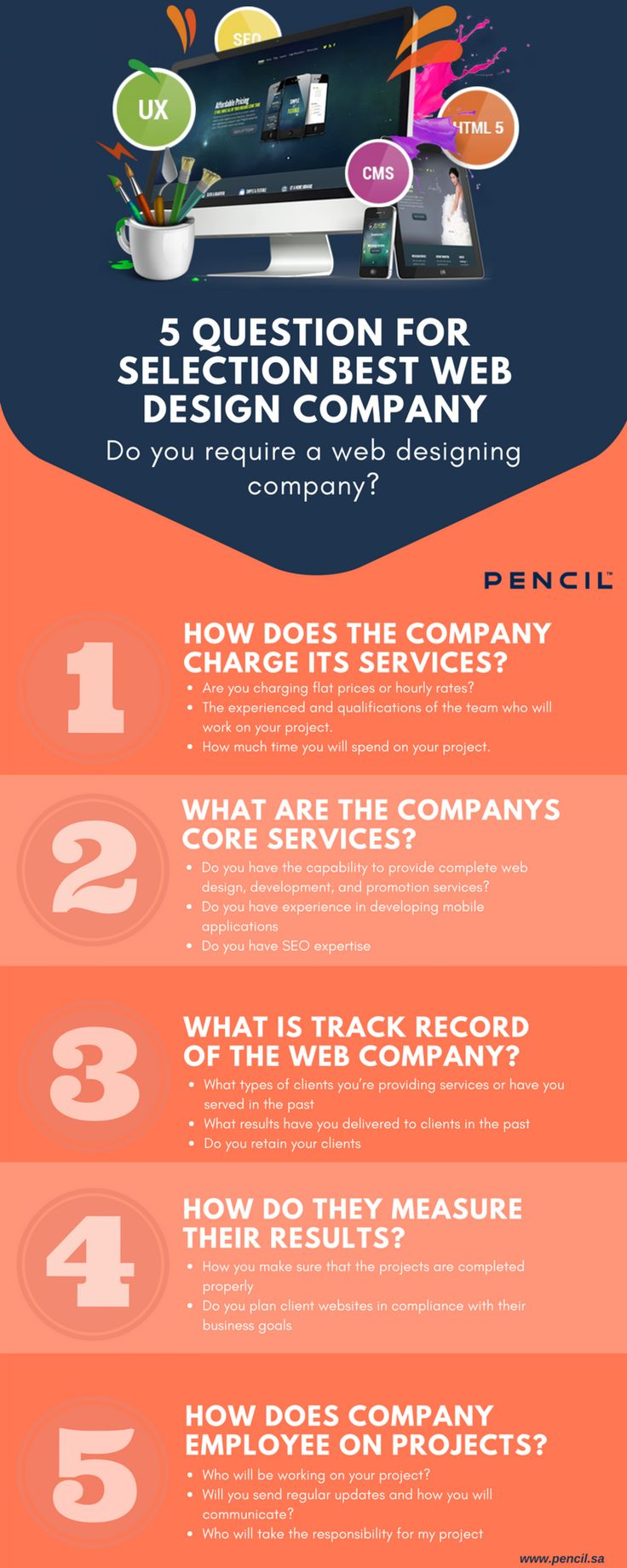 sk these five questions before hiring any web design company for your business website. These question has been included all accessory things for good looking website