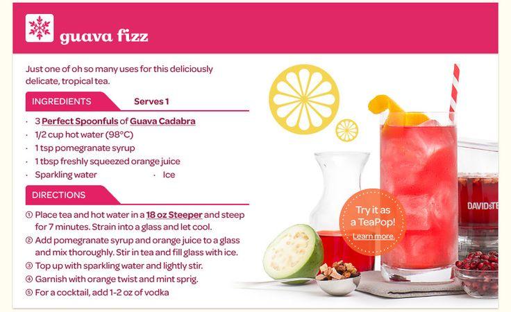 Guava fizz [yummy iced tea recipes from DavidsTea]