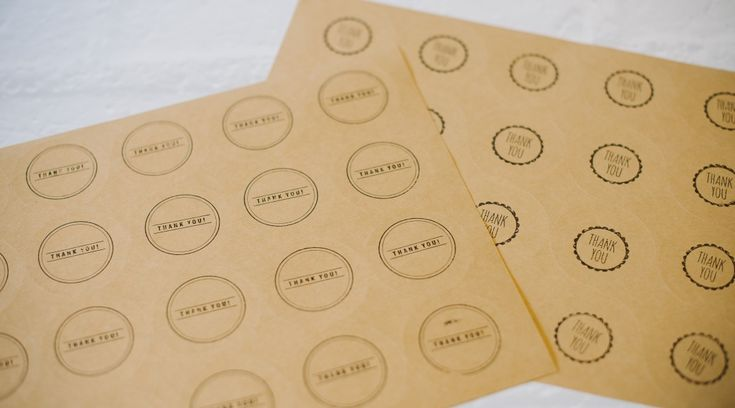 Kraft Paper Stickers - Use for Packaging, Gift Wrap, Letters, Address Labels | Hand stamped
