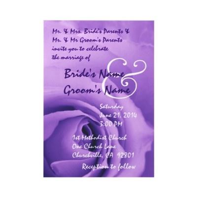 Dreamy purple rose wedding invitation http://www.zazzle.com/elegant_purple_rose_wedding_invitation-161665372779386901?rf=238387211962446835