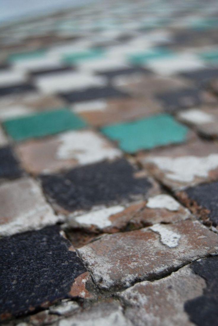 mosaic, floor, arabic, art, artistic, mauretanian, Mauretania, spanish, España, Spain, Malaga, castle, Al-Kazaba, tiles, ceramic, turquoise,