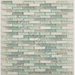 Kitchen backsplash ideas - glass tile, or at least this color scheme