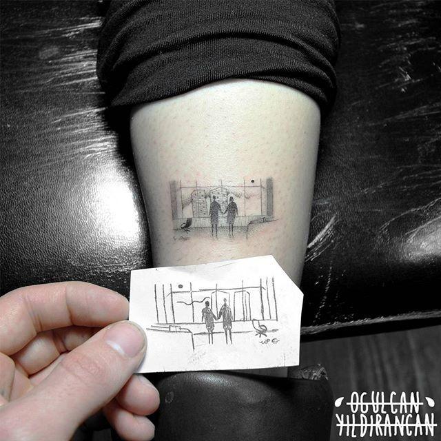 Fight club tattoo by https://www.instagram.com/ogulcantattooer/