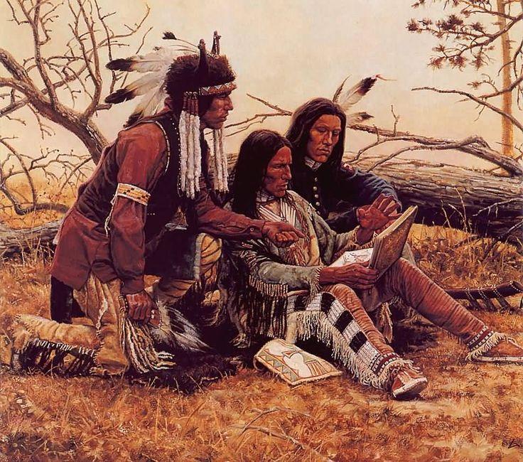 Native American Confronts Anti