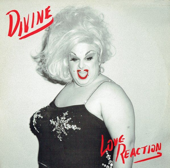 "Divine - Love Reaction, 1983 UK 12"" single, peaked at number 65 on the UK Singles Chart"