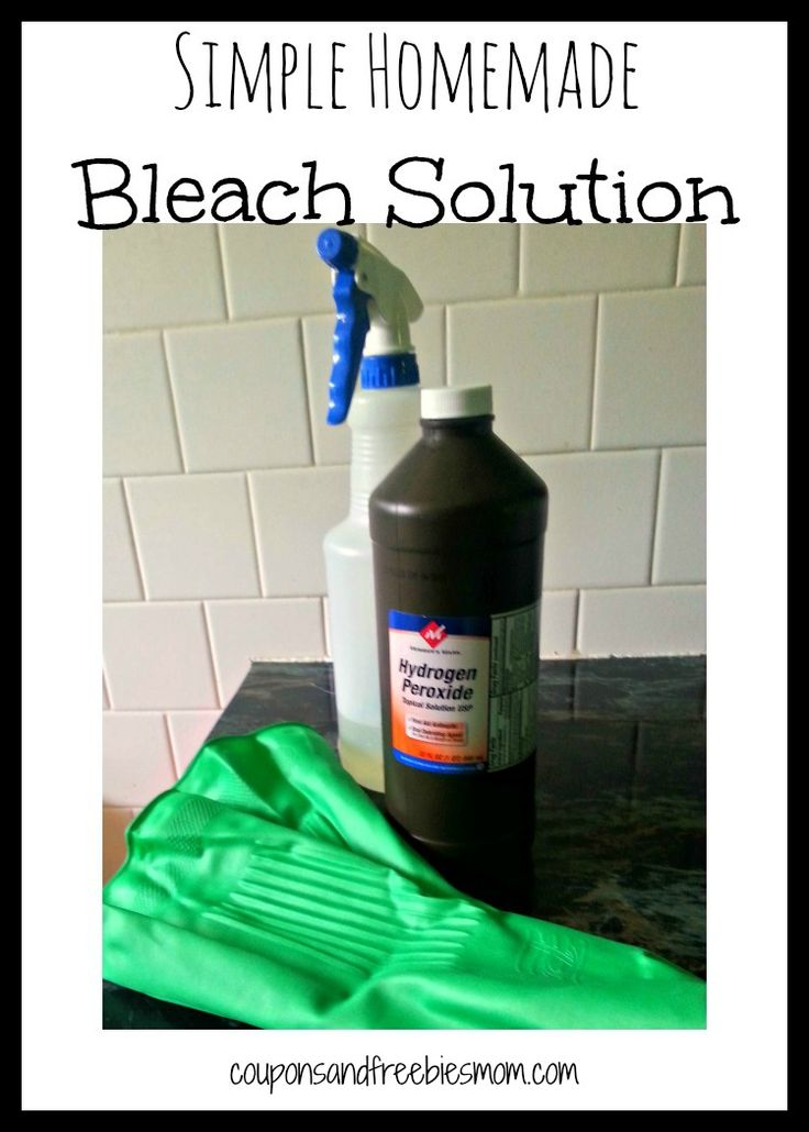 Do you want the cleaning power of bleach but hate the thought of using it in your home and around your children or pets? This Simple Homemade Bleach Solution is a great alternative that is cost effective and safer for everyone. Not only does it sanitize and clean, it removes stains just like traditional bleach would.