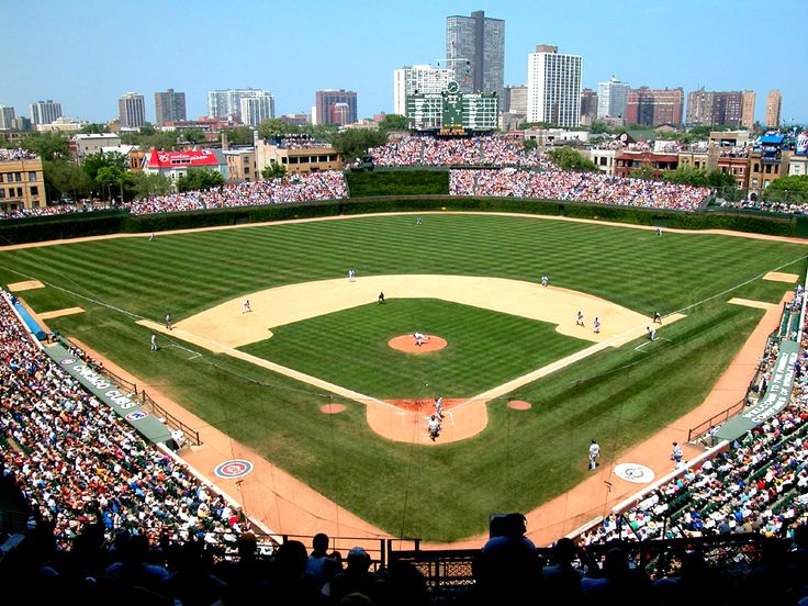 Wrigley Field...old-school, in the middle of the Wrigleyville neighborhood...an experience.