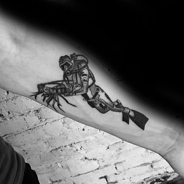 40 Scuba Diving Tattoo Designs For Men Diver Ink Ideas Scuba