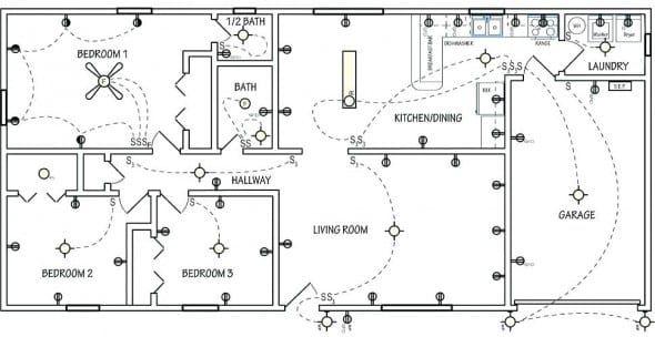 Electrical Wiring Diagram House Di 2020 Rumah Lampu Simbol