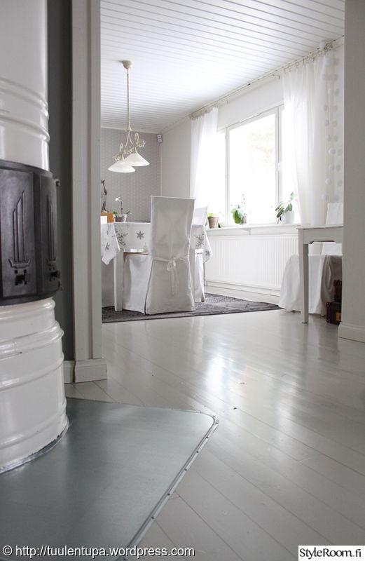 puulattia,lattiamaali,pönttöuuni,ruokahuone,ruokailuhuone