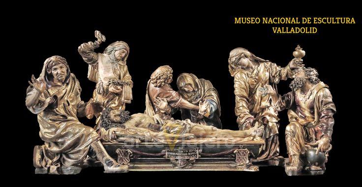 Grupo escultórico del Santo Entierro (1541-1545), Juan de Juni. Museo de Escultura de Valladolid http://arteviajero.com/