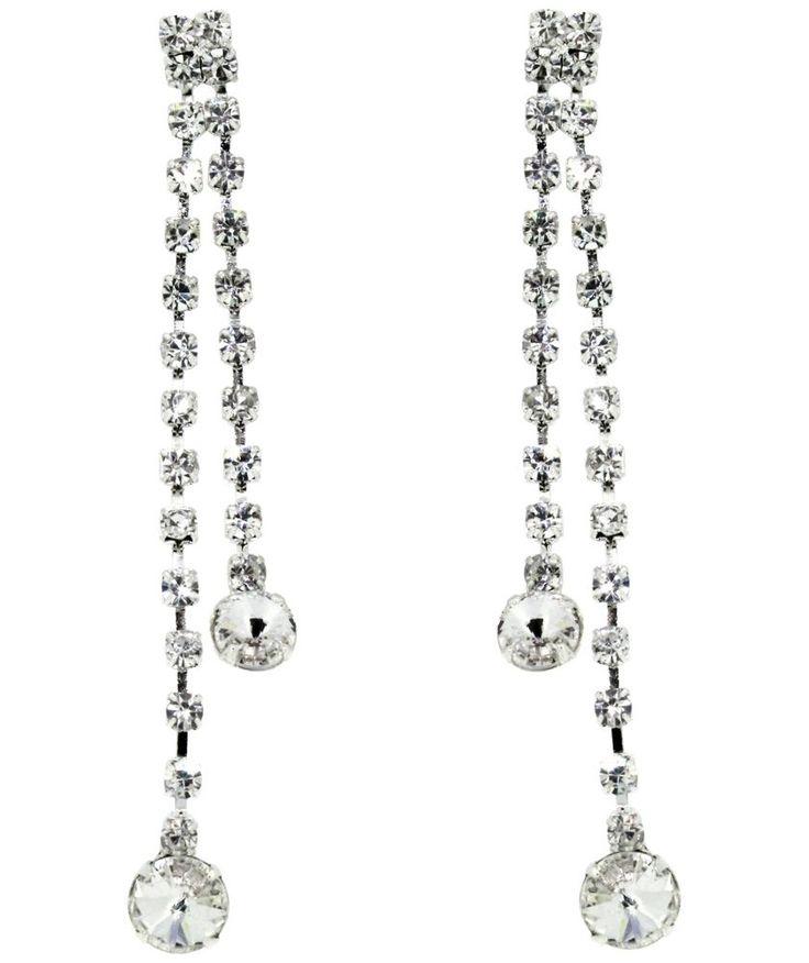 Buy Link Up Diamante Drop Earrings at Argos.co.uk - Your Online Shop for Ladies' earrings.