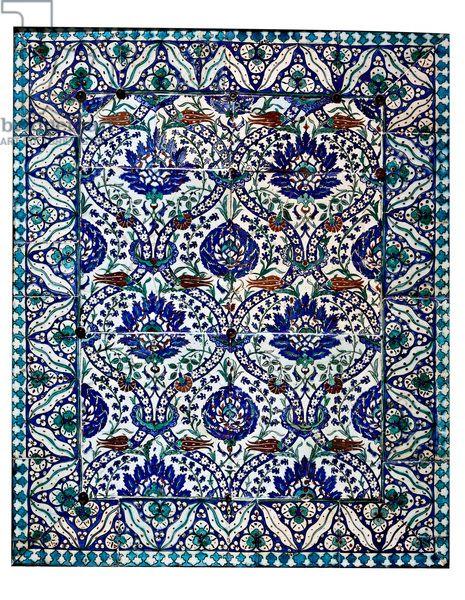 islamic art-tile panel-underglaze painted-inv.n.15912-Ottoman 16th century
