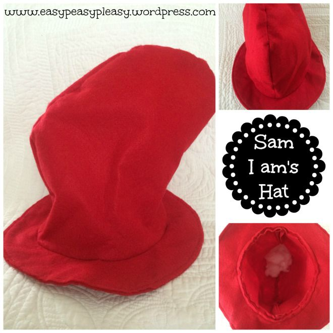 Dr. Seuss Sam I am's finished hat collage