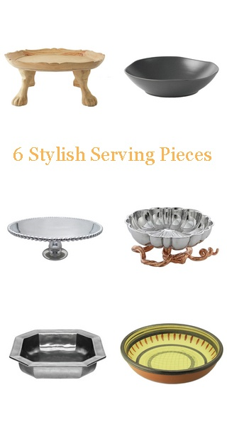 Eclectic serving trays for the holiday party season.