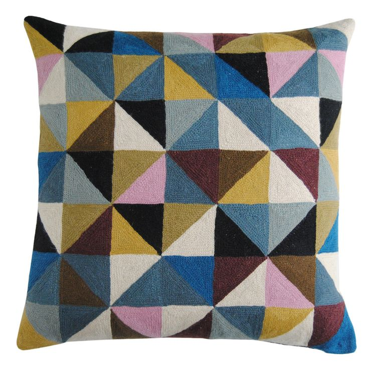 Would love mix of these cushions on the sofa... Niki Jones Harlequin Cushion at Amara