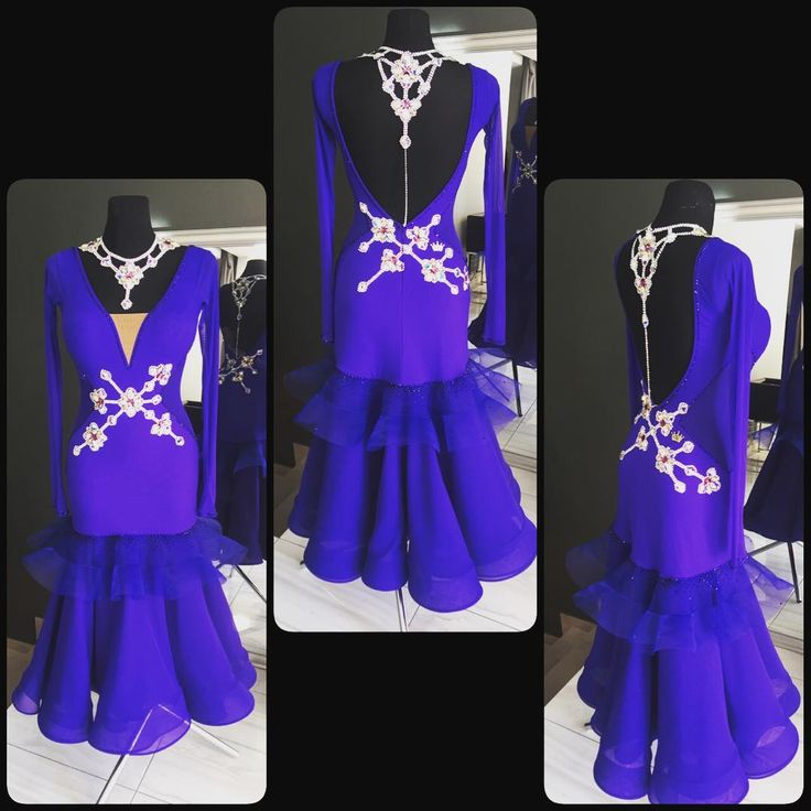 Gorgeous ballroom dress made by DLK United Design for Sale!  #ballroom #ballroomdressforsale #ballroomdress #danceclothes #fashion #dlk_united_design #design