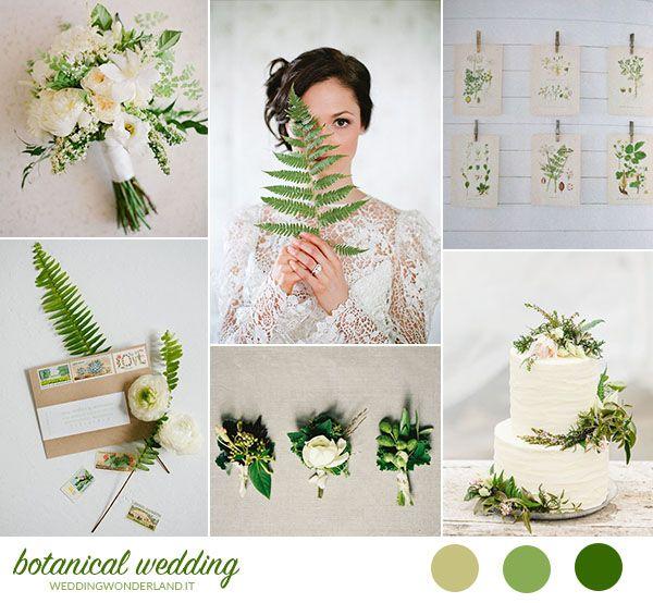 white and green botanical wedding inspiration http://weddingwonderland.it/2015/10/matrimonio-organico-botanico.html