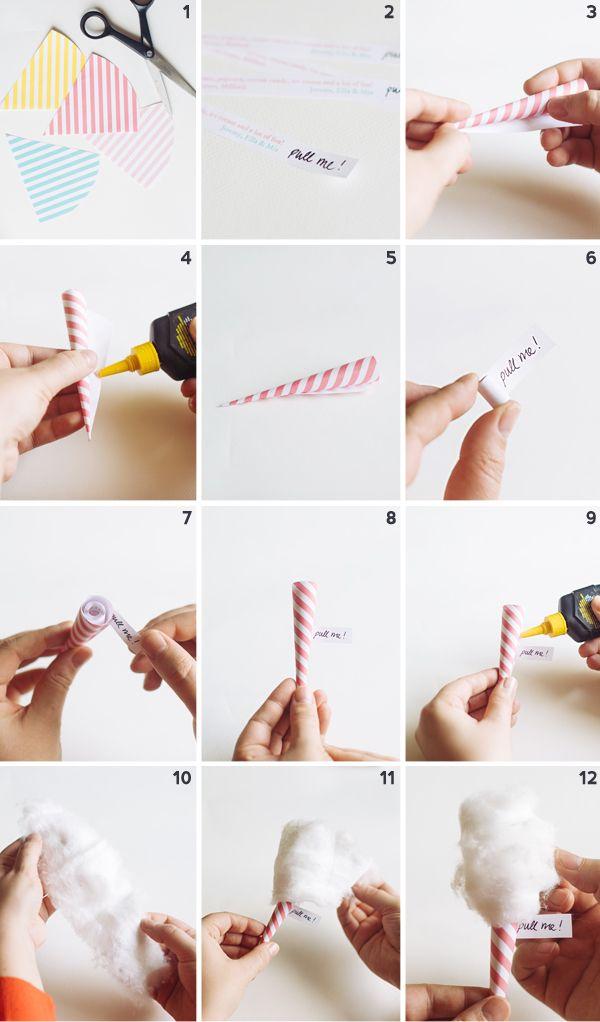 "DIY Mini Cotton ""Candy"" Invitations | Oh Happy Day!"