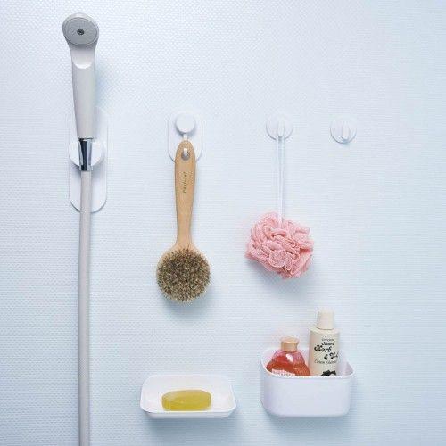 磁着マグネットで取りつけ可能な浴室壁面収納|通販のベルメゾンネット