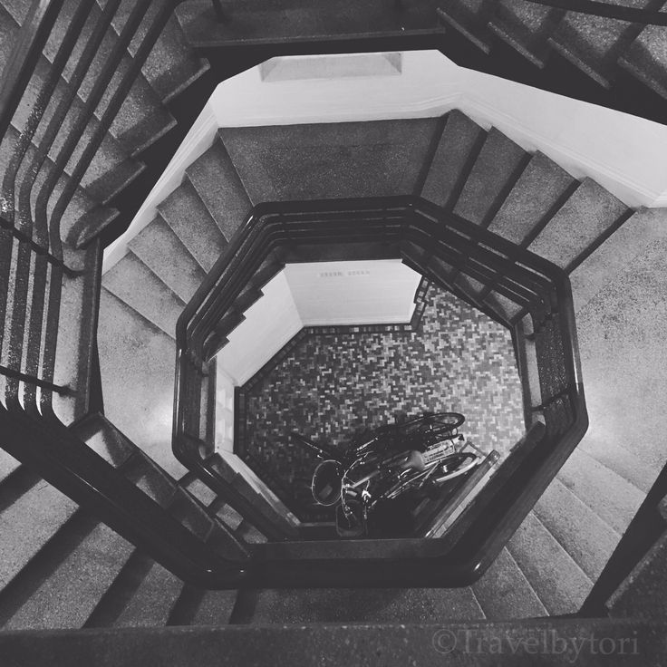 Round the twist  Stairwell fun. Beautiful architecture  Photo by @travelbytori  . . . . . . .  #travelbytori #travel #photo #amazingcaptures #vacationandtravel #travelphoto #travelphotooftheday #worldphotooftheday #bnw #blacknwhite #bnw_captures #stairs #creative #architecture #design #dizzy #bnw_photography #instagood #instafollow #sydney #bondi #experimenting