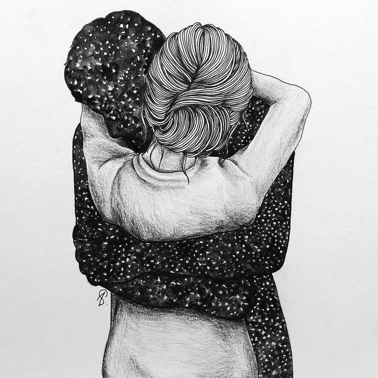 """""""Cuando abrazo a otras personas, el cielo es claro; pero cuando te abrazo a ti, salen las estrellas."""""""