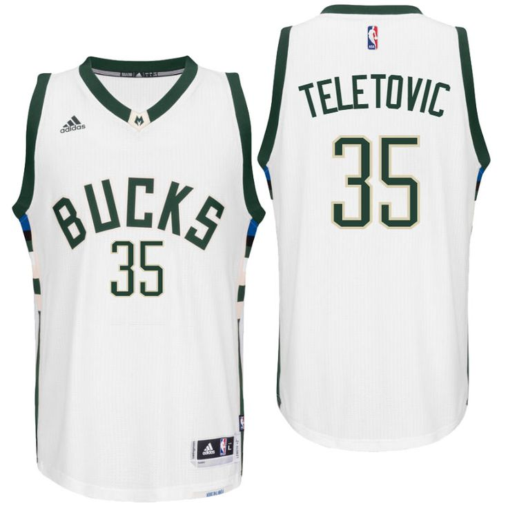 Milwaukee Bucks Mirza Teletovic 2016 Home White New Swingman Jersey