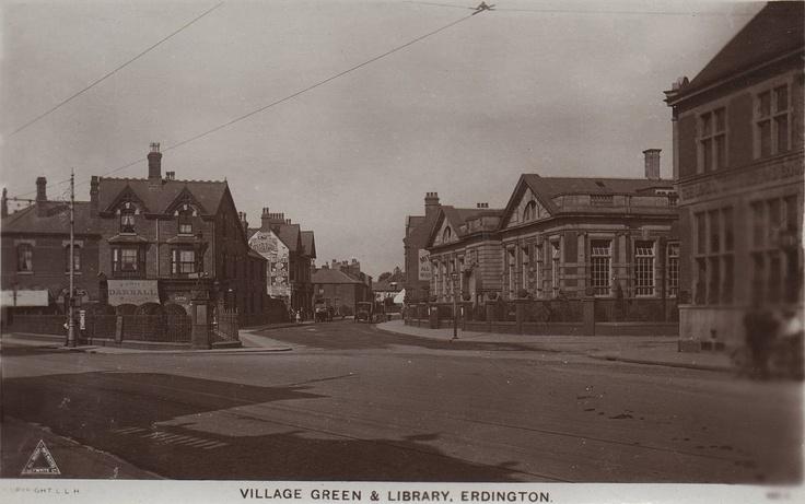 Warwickshire, Erdington, Village Green and Library.jpg 1,280×803 pixels