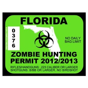 Grab a zombie hunting permit before you go head-hunting.. #zombies