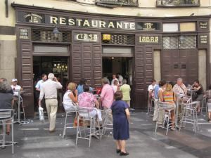 What to do near Sol and Gran Via in Madrid: Casa Labra Restaurant