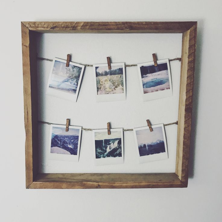 rustic clothespin picture frame, polaroid photo frame, wooden vision board, reclaimed wood picture hanger, picture display by EarthSoulGoods on Etsy https://www.etsy.com/listing/581067741/rustic-clothespin-picture-frame-polaroid